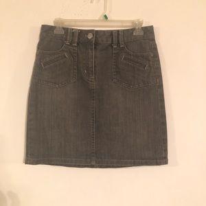 ANN Taylor Denim Skirt Women's Size 2 Gray